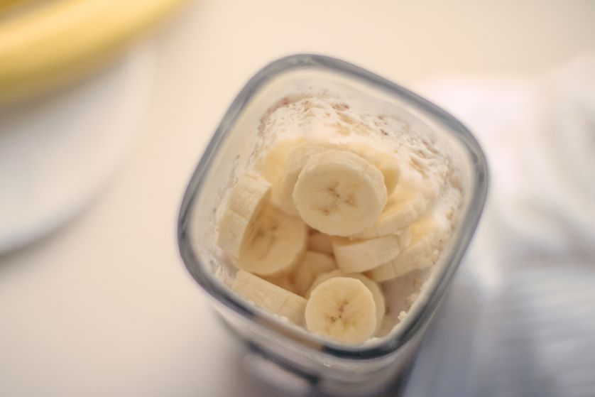 Protein shake with bananas