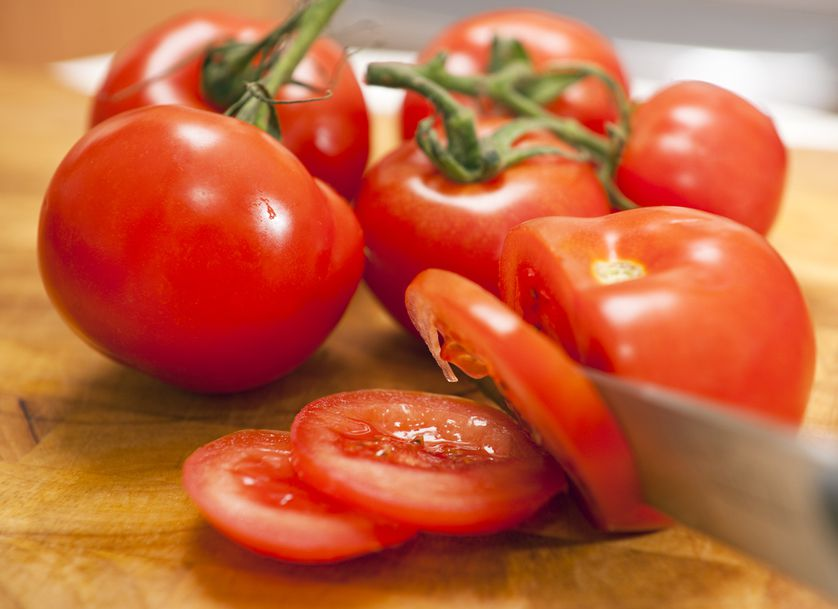 Tomatoes are rich in lycopene, which can lower your risk of cancer and heart disease.
