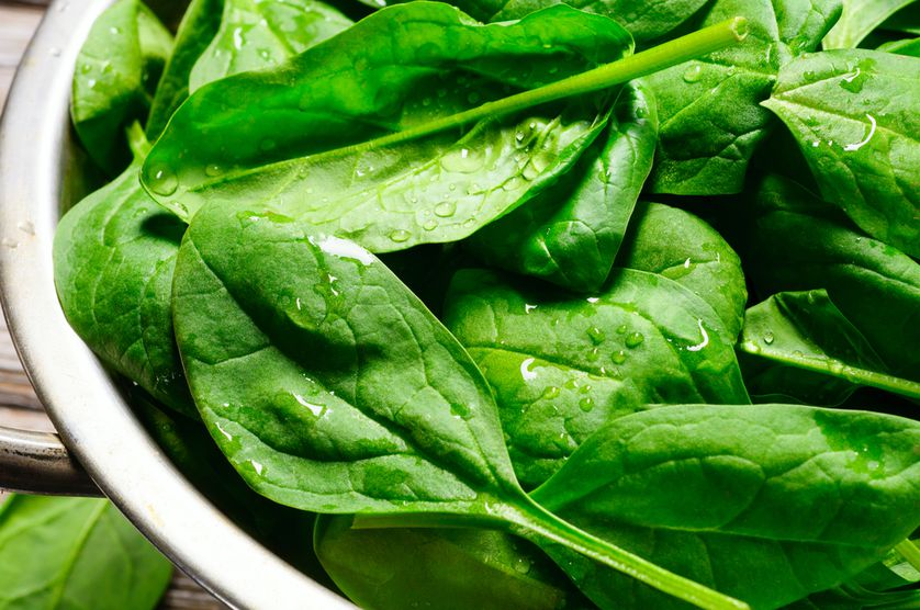 Spinach is full of iron, vitamin C, and lutein, which reduces your risk of chronic diseases.