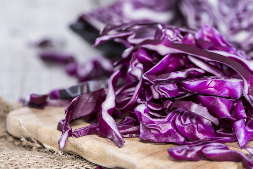 Shredded red cabbage is high in favor and adds lots of crunch.