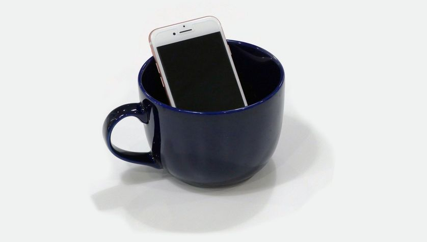 Your phone + a coffee mug = louder volume.