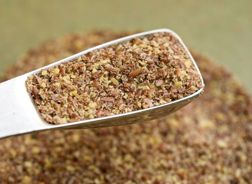 Ground flaxseeds