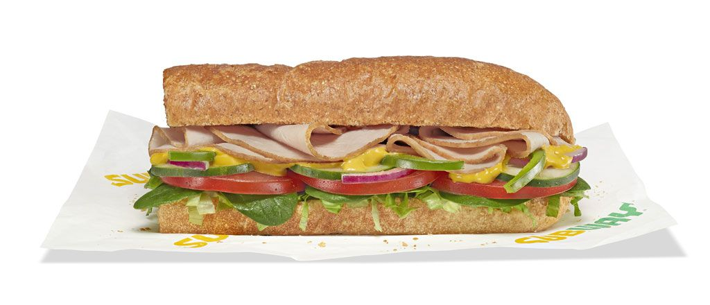 Subway Fresh Fit Turkey Beast sandwich on 9-Grain wheat bread