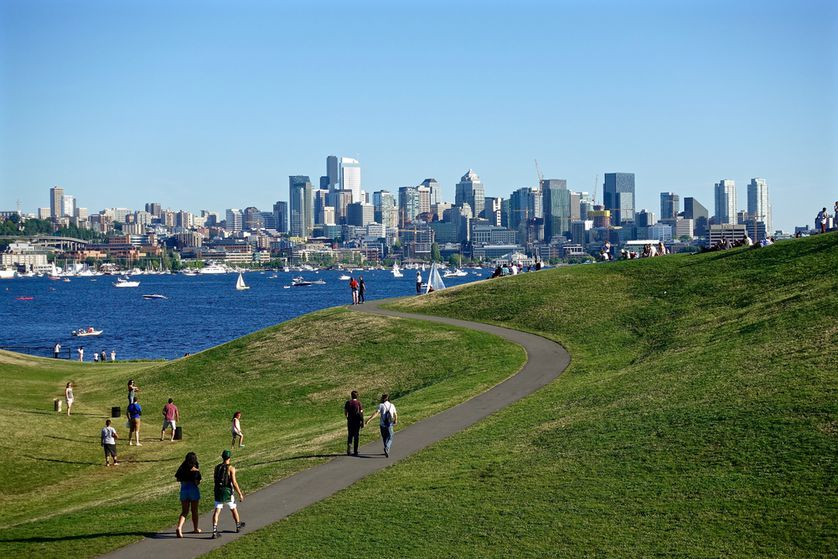 Seattle residents have plenty of access to public parks like Gas Works Park.