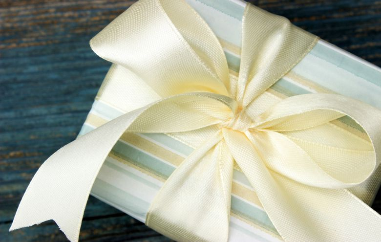Wrapped gift with a bow