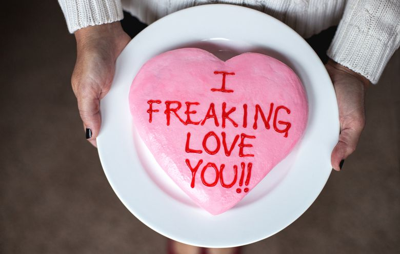 """I freaking love you"" cake"