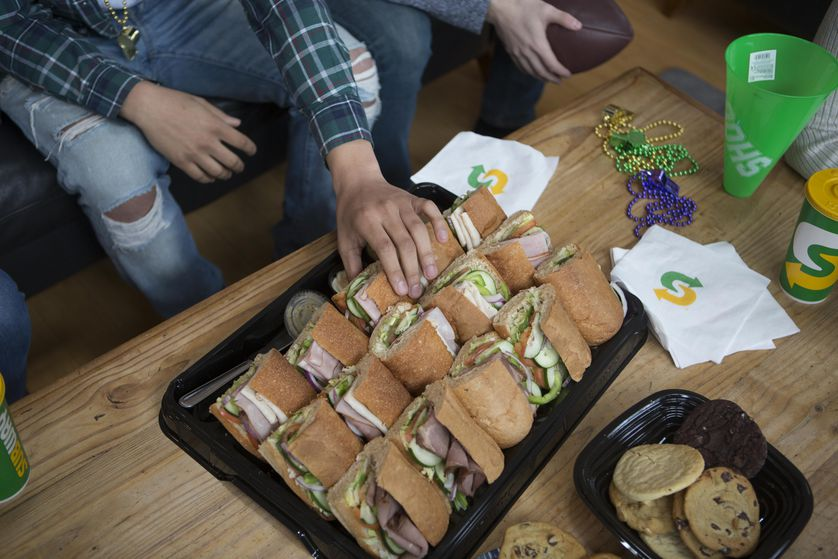 Sandwich Platters from Subway are perfect for hungry crowds.