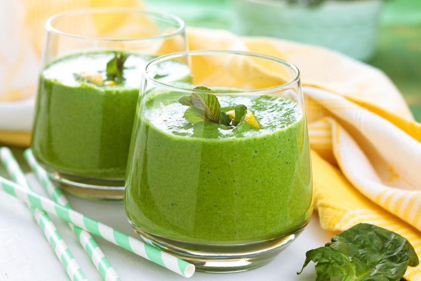 Mix up your smoothie game with fresh herbs.