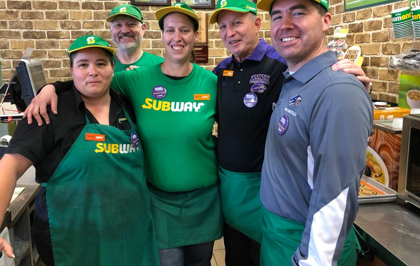 Coaches vs. Cancer fundraiser event at Subway