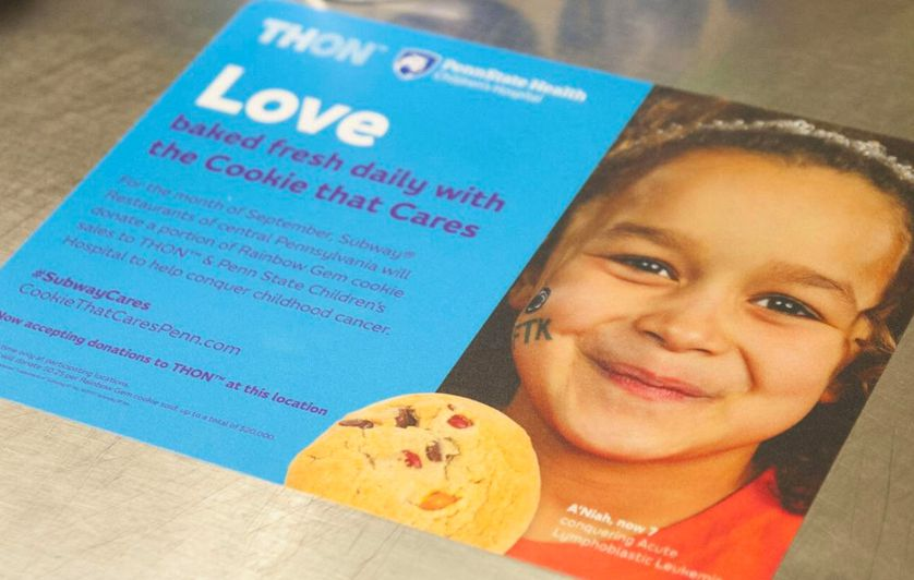 Subway Cookie that Cares campaign for THON™