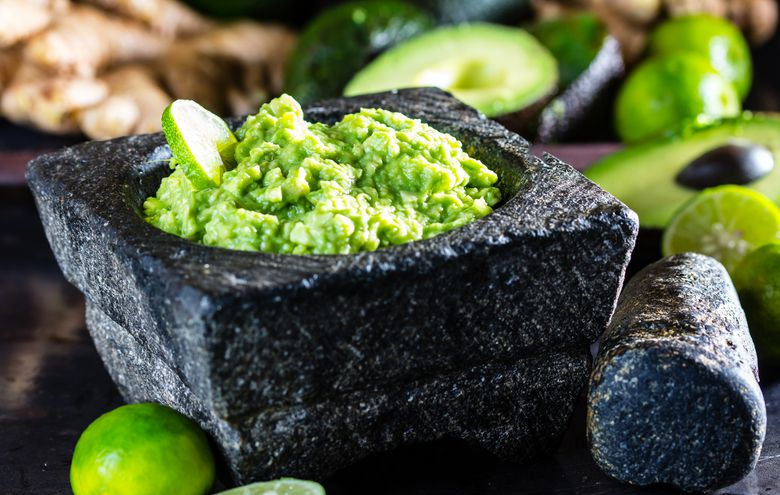 Avocado and lime guacamole