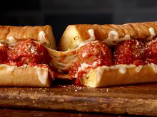 Subway® Ultimate Meatball Marinara on new Cheesy Garlic Bread