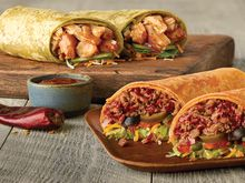 Sesame-Ginger Glazed Chicken and Sweet N' Smoky Steak & Guac Signature Wraps at Subway restaurants