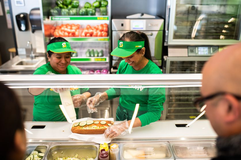 Mindy Patel at her Brookfield, Connecticut, Subway franchise