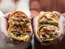 Sweet N' Smoky Steak & Guac and Sesame-Ginger Glazed Chicken Signature Wraps
