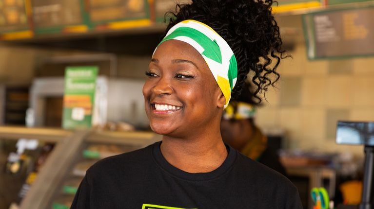 Subway® franchisee Kiesha Haggerty in Pinole, California