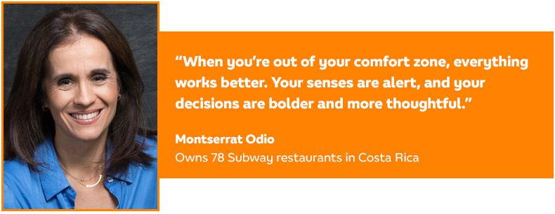 Quote from Montserrat Odio, Subway Business Development Agent