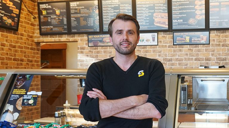 Subway franchisee Alex Merturi