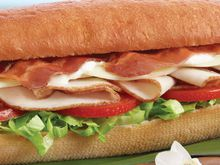 "Turkey, Bacon & Provolone on freshly baked King's Hawaiian® 8"" bread"
