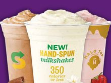 Halo Top® Creamery hand-spun milkshakes at Subway® restaurants