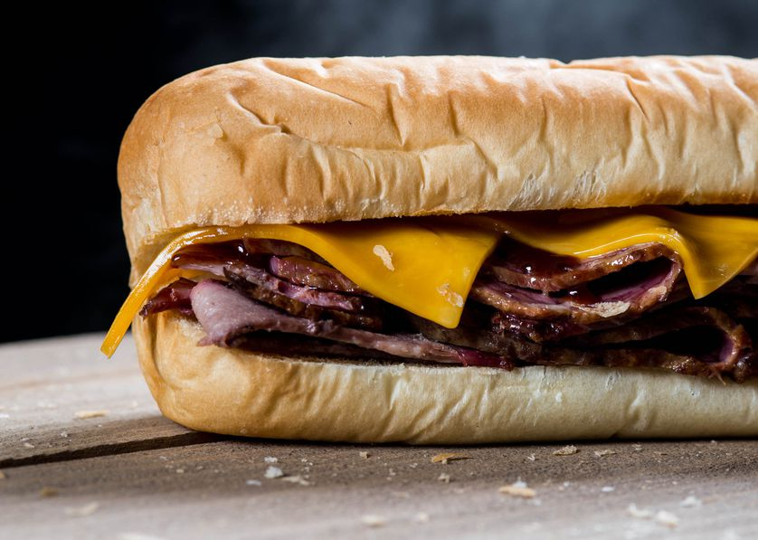 Our new Naturally Pit-Smoked Brisket sandwich looking smokin' good.